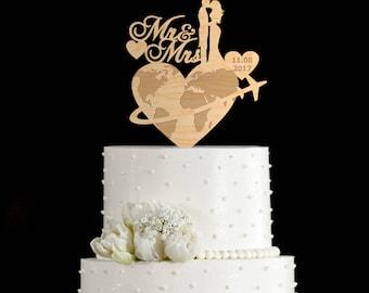 Travel wedding cake topper,travel wedding cake,travel wedding,travel themed cake topper,wedding airplane cake topper,airplane cake,6632017