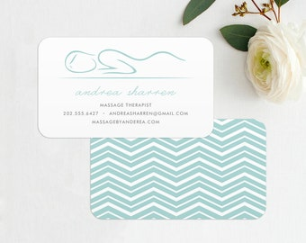 Masseuse, Masseur, Massage Therapist Business Card / Calling Card / Mommy Card / Contact Card - Calling Cards, Modern Business Cards