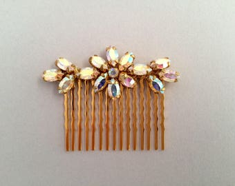 Crystal AB Bridal Hair Comb