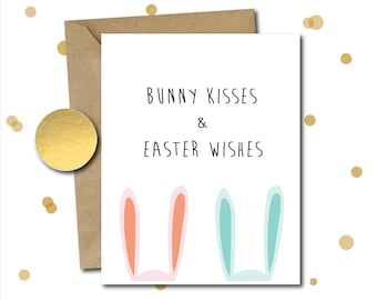 Easter card, easter gifts, easter card pack, easter bunny