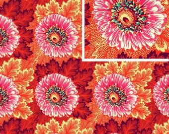 Sunflowers - CORAL - PER 25CM - Amy Butler - HAPI - PWAB122 - 100% Cotton Quilt Fabric