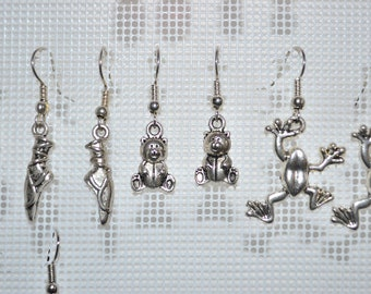 teddy bear / teddy bear earrings