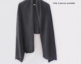Dark gray 80% cashmere long shawl / Cashmere shawl / Cashmere scarf / Shawl / Scarf / Winter accessories