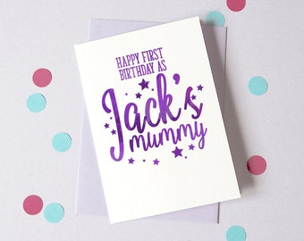 Happy Birthday as Parents – Personalised Birthday Card – Card for Mummy, Daddy – birthday card to parents – from baby - from daughter son