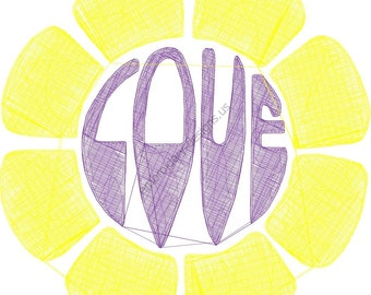 love in flower Machine Embroidery Designpes
