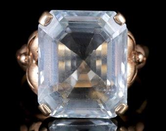 Aquamarine Ring 14ct Gold 12ct Aquamarine Circa 1930