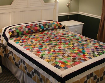 Oversize full Center Charms pattern quilt top