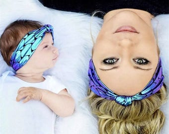 Mermaid Mommy And Me, Matching Headbands