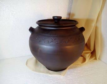ceramic pot large ceramic pot baking dish clay pot ceramic pot lid pottery pots cooking pots clay bean pot pot with lid pottery gift for her