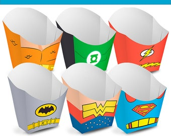 6 league justice boxes Boxes - Ready to Print - Instant Download