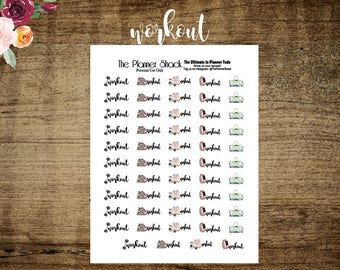 Workout | Printable Planner Stickers | Planner Printables | Printables | Fitness | Workout Printable | Gym Day | Gym Bag