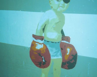 Punch Drunk Baby by Eric Flavin Home Decor Wall Decor Giclee Art Print Poster A4 A3 A2 Large Print FLAT RATE SHIPPING