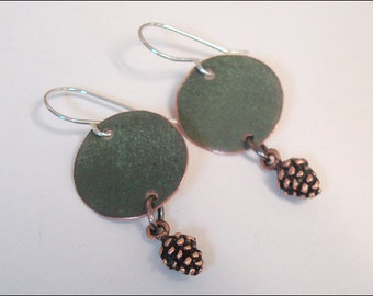 Maine State House Copper Roof round earrings - Limited Edition AR
