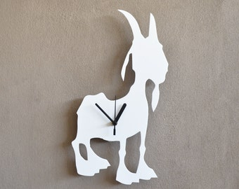 Goat - Silhouette Wall Clock