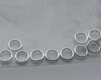 10 pieces 4mm 20 Gauge Sterling Silver Closed Rings