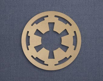 Galactic Empire Logo, Wood Cutout, Unfinished Sign