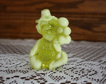 Mosser Glass Clown Figurine in Yellow - Jiggs