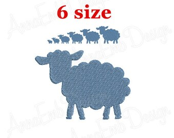 Sheep Embroidery design. Sheep Silhouette. Lamb Silhouette. Sheep mini Embroidery. Sheep design. Farm Embroidery. Machine Embroidery Design.