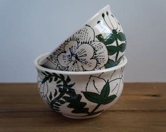Pottery Soup Bowl - Pottery Bowl - Ceramic Bowl - Salad Bowl - House Warming Gift - Gift for Her - Mother's Day Gift