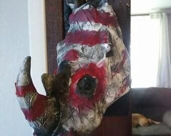 War Rhino Trophy Mount