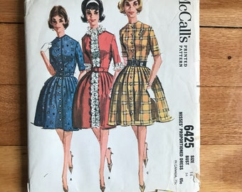 Vintage McCalls Dress pattern 6425 1962