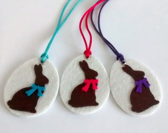 3 Kids Necklaces, Necklace Easter Gift, Easter Gift Kids, Easter Felt Bunny, Gift Kids Necklace, Cute Kids Gift, Cute Easter Gift