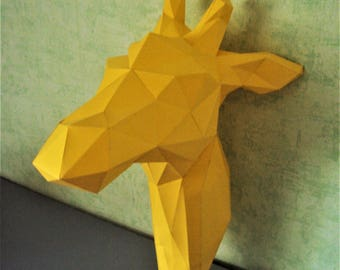 DIY Giraffe head 3D paper