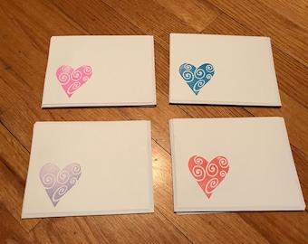 Heart blank cards