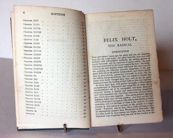 Felix Holt the Radical George Eliot vintage Green Book antique United kingdom literature