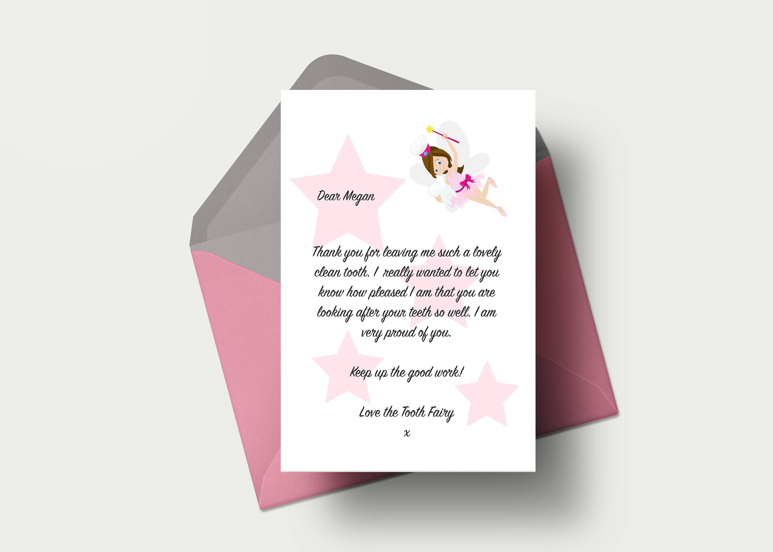 Tooth fairy letter tooth fairy printable personalized zoom xflitez Choice Image