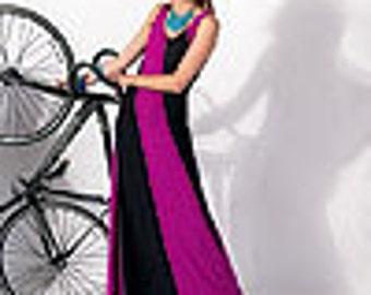 McCall's 6697 Size (6-14) Color Block Knit Flared Dress, Maxi Dress Uncut