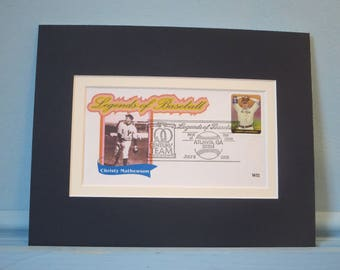 Hall of Fame - New York Giants Christy Mathewson & First Day Cover of his stamp