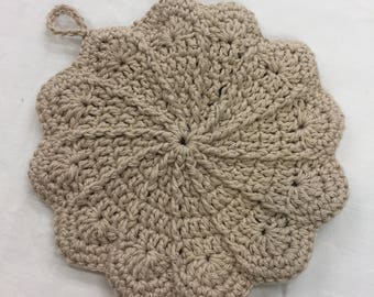 Scalloped Crochet Potholder