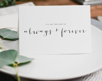 You + Me, Always + Forever, It Was Always You, Wedding Card to Bride or Groom, Wedding Day Card, Wedding Cards, To My Groom Card, K4