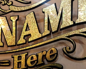 Gold leaf decals, Gold decals, Custom decals, Personalized decals,  Large Decals, Storefront Signs, Custom Signs, Custom Decals, Vinyl Decal
