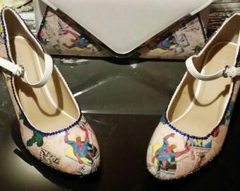 Ladies women's marvels avengers wedding/prom/evening Mary jane heels