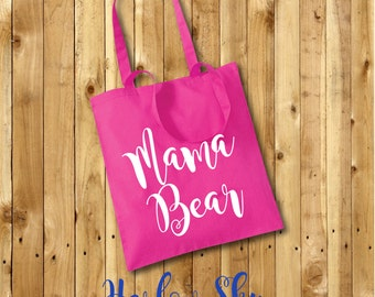 Mama Bear 100% Cotton Tote Bag Mothers Day Gift Birthday Present Shopping Reuseable New Baby