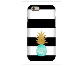iPhone Case, Pineapple Love, Personalized iPhone 8, iPhone 7, iPhone 6 Tin Tree Gifts Monogram Gift for Women
