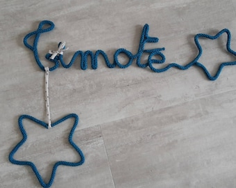 Name of knitting with star and hanging star
