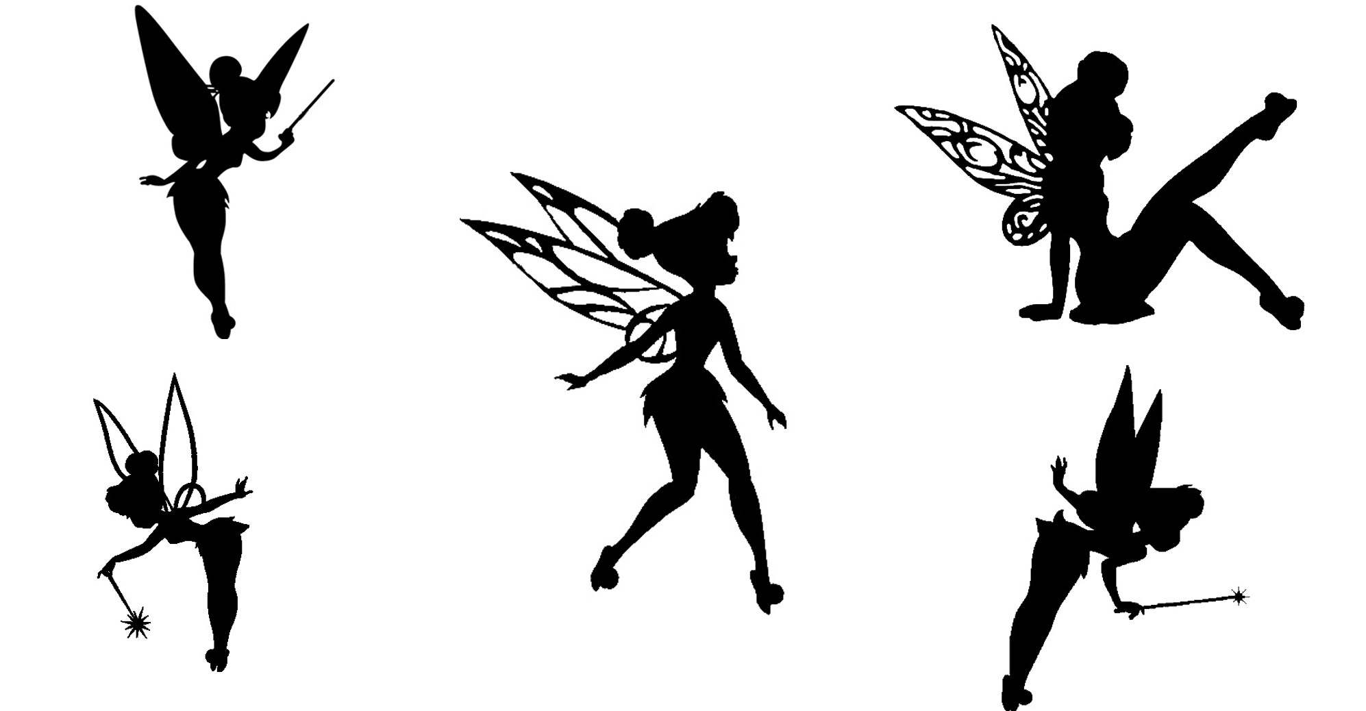 Tinkerbell fairy cutout silhouette 15 tinkerbell die - Fee clochette ombre ...