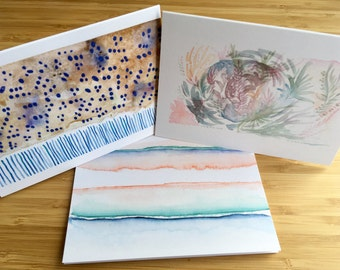 Watercolour Notecards, Blank Cards, Greeting Cards, Blank Notecards, Notecard Set, Abstract Notecards, Minimalist Notecards, Set of Ten
