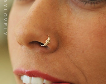 Small gold nose ring, 24/22 /20/18 GAUGE, silver nose ring, 14k gold nose ring, gold filledvnose ring, simple small tiny hoop