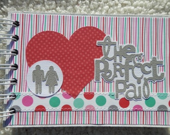 4x6 Couples or Valentines Day Chipboard Scrapbook Photo Album
