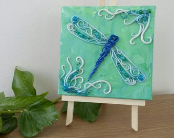 Dragonfly wall art, Dragonfly Art, dragonfly sculpture, insect art, mixed media insect, dragonfly gift, dragonfly decor, OOAK dragonfly