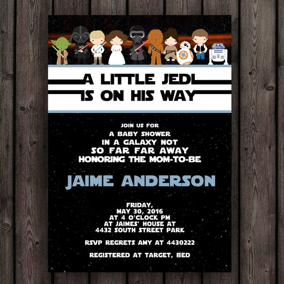 Perfect Star Wars Baby Shower Invitation Starwars Invitation Star