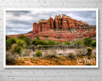 Landscape photography, sedona art print, cathedral rock, arizona wall art, desert wall art, framed art print, matted print, sedona picture