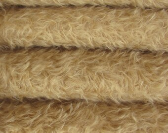 Quality 785S/CM - Mohair - 1/6 yard (Fat) in Intercal's Color 643S-Vintage Tan. A German Mohair Fur Fabric for Teddy Bear Making & Crafts