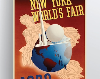 New York World's Fair 1939 20x30 & 24x36 Poster Paper or Giclée Fine Art Print w/ Free Shipping
