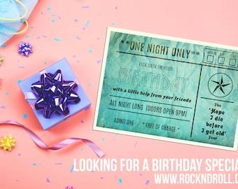 Birthday Ticket (Concert ticket)