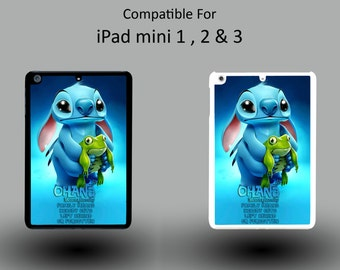 Disney Lilo And Stitch Ohana Means Family Quote Hard Plastic iPad Mini 1/2/3 Cover IPM022